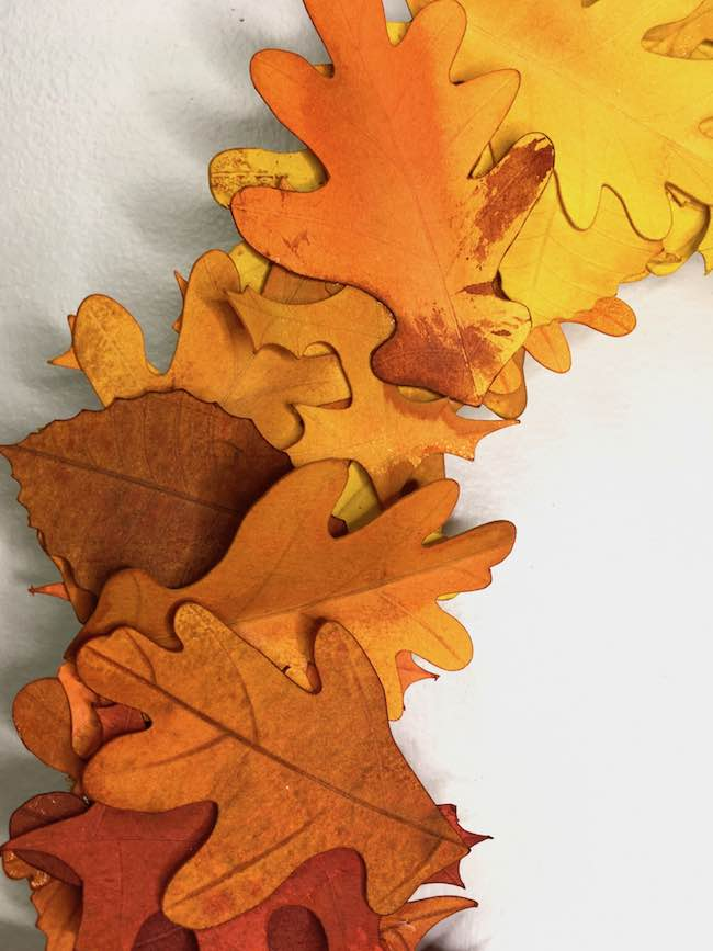 ombre leaves transition for paper wreath