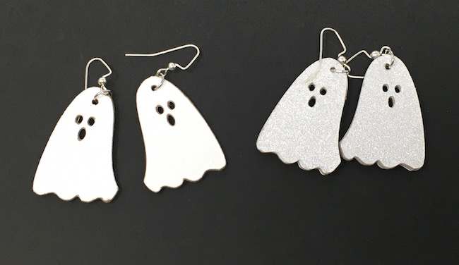 pairs of DIY ghost earrings