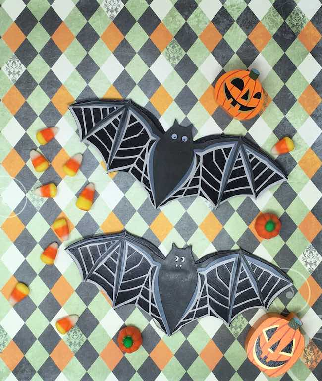 paper bats ready for garland
