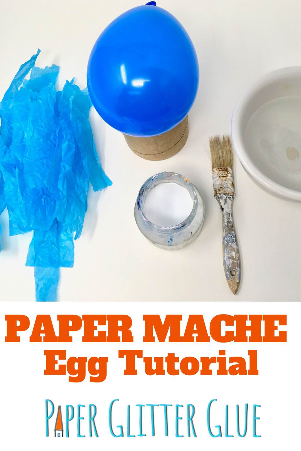 paper mache egg detailed tutorial