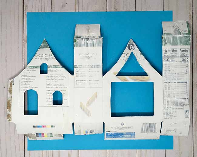 prime the outside recycled box framework for cardboard house