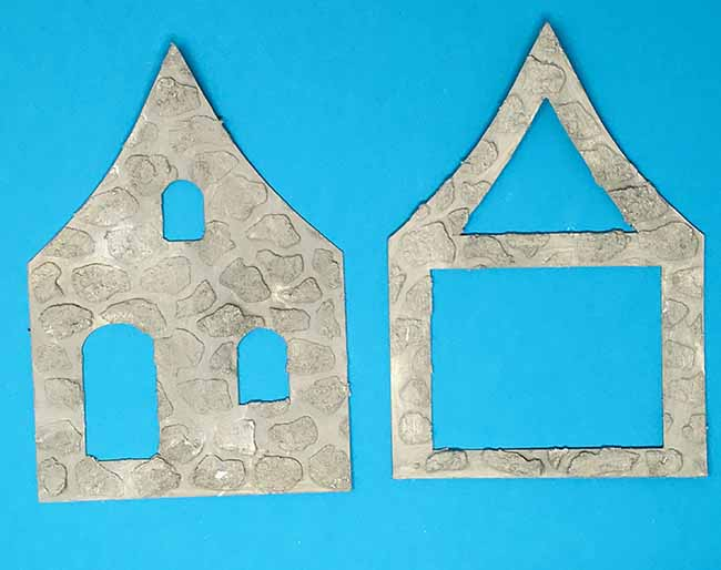 primer layer for simulating mortar for miniature leprechaun cottage