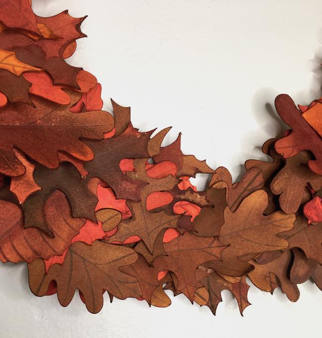 red and brown leaves for fall wreath