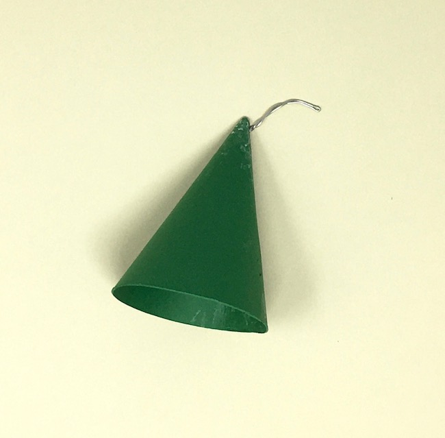 roof cone with wire for stem