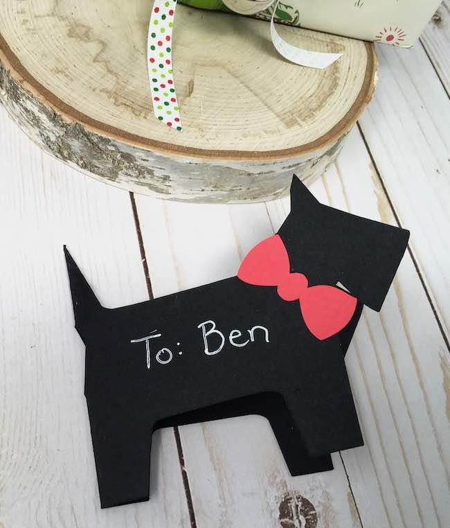 scotty dog gift tag