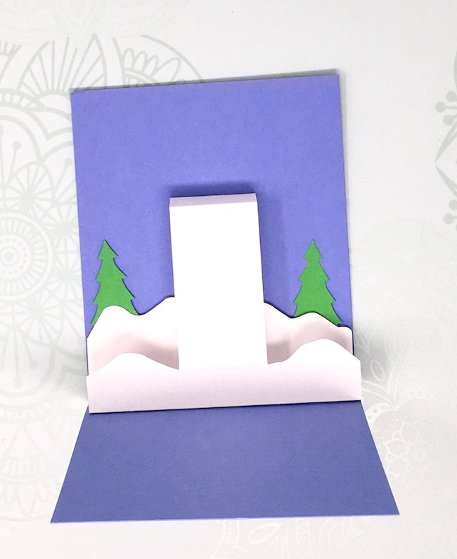 snowbank behind support piece
