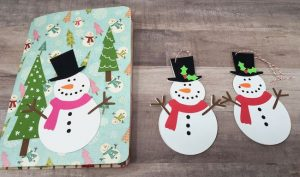 snowman gift tags with pop-up card