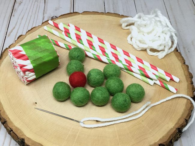 supplies to make easy tiny house holiday garland