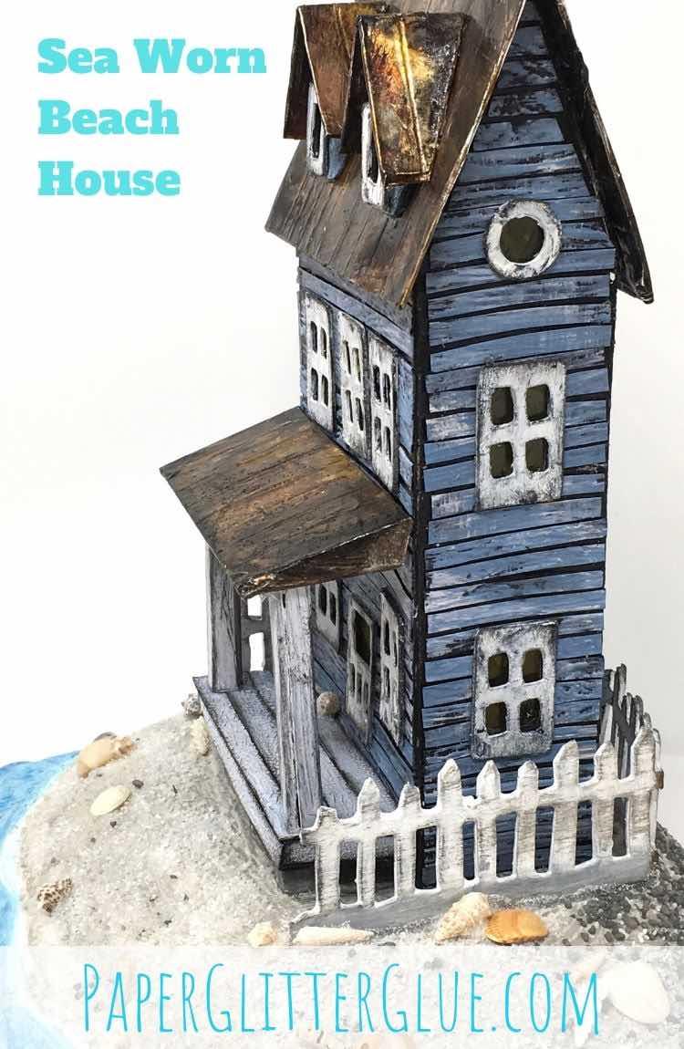 How to make the Sea Worn Beach Cardboard House