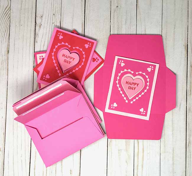 valentine spinner cards ready for mailing