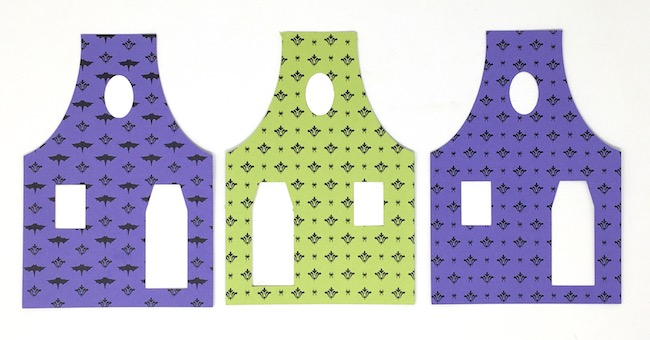 printed wallpaper for mini halloween house