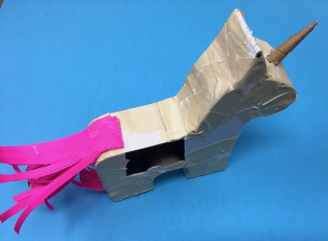 where to glue unicorn tail on body